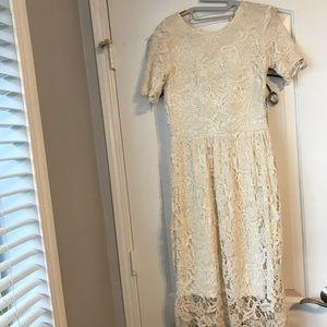 Off white lace dress